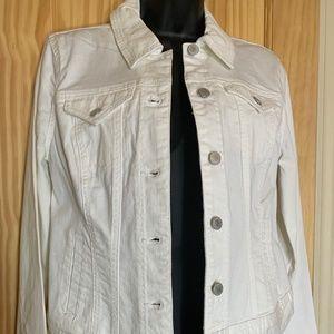 Style & Company White Denim Jacket NWT